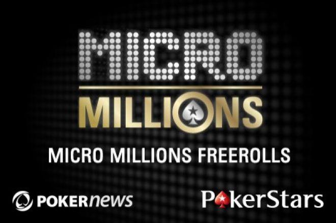 Összesen 100 ingyenesen megnyerhető beülő kiadó a PokerStars MicroMillions Zoom... 0001