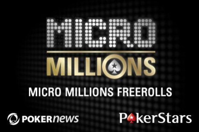 Laimėkite vieną iš 50 bilietų į 29-tą MicroMillions turnyrą! Slaptažodis viduje! 0001
