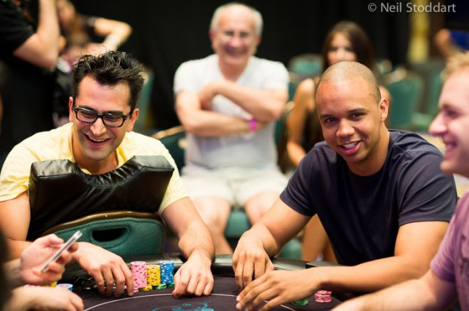 Antonio Esfandiari and Phil Ivey