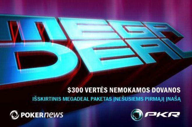 PokerNews ir PKR MEGADEAL išskirtinis pasiūlymas 0001