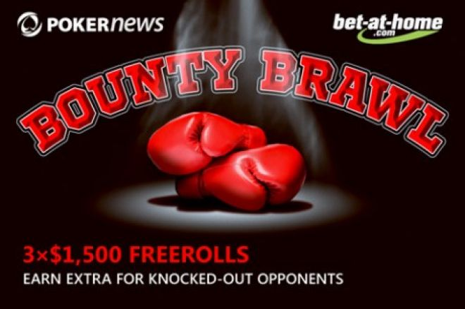 Užsidirbk papildomai PokerNews bet-at-home.com Bounty Brawl nemokamuose turnyruose 0001