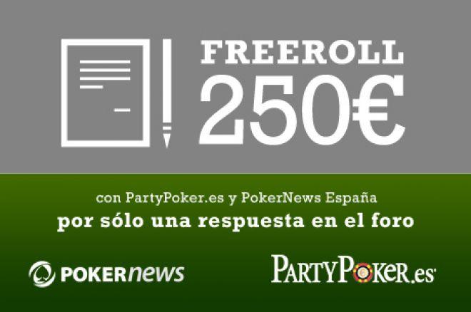 Entrada gratis a freeroll de 250€ de PartyPoker.es y PokerNews España. Te esperamos en el... 0001
