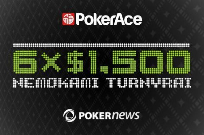 Laimėk dalį iš $9000 PokerAce Depositor nemokamuose turnyruose 0001
