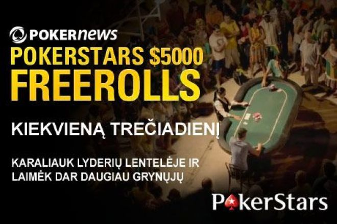 Paskutinės dvi galimybės dalyvauti $67,500 PokerNews nemokamų turnyrų serijose... 0001