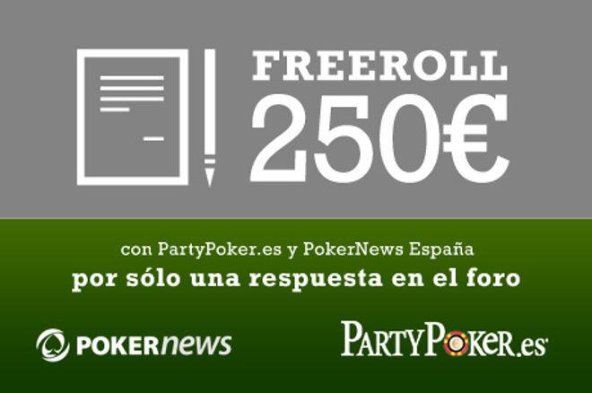 partypoker Semanal: Freeroll 250€ de buy-in gratuito, 40€ gratis y más 0001