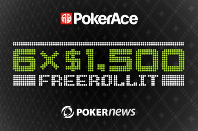 Ensimmäinen PokerAce $5,000 tervetulo-freeroll on nyt pelattu mutta lukuisia on vielä jäljellä! 0001