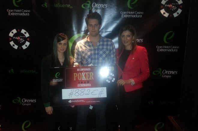 III Campeonato de Póker de Extremadura, Manuel Coronado ganador 0001