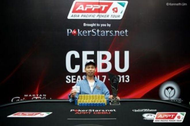 Жа Кюнг Сим выиграл 2013 APPT Cebu 0001