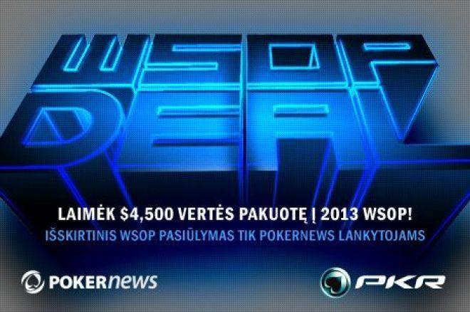Išskirtinis WSOP Deal pasiūlymas PokerNews lankytojams PKR kambaryje 0001