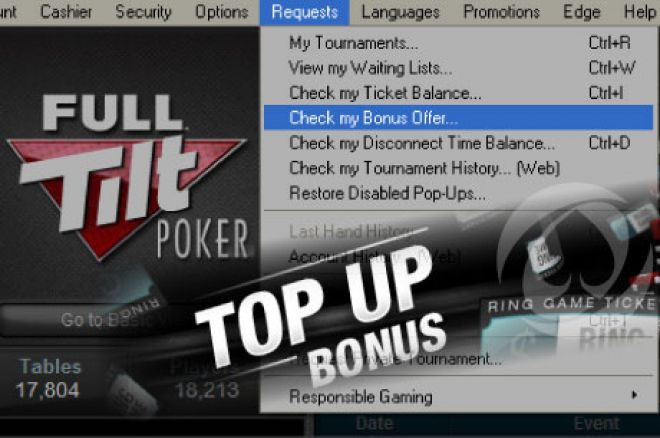 Full Tilt Poker Top Up Bonus