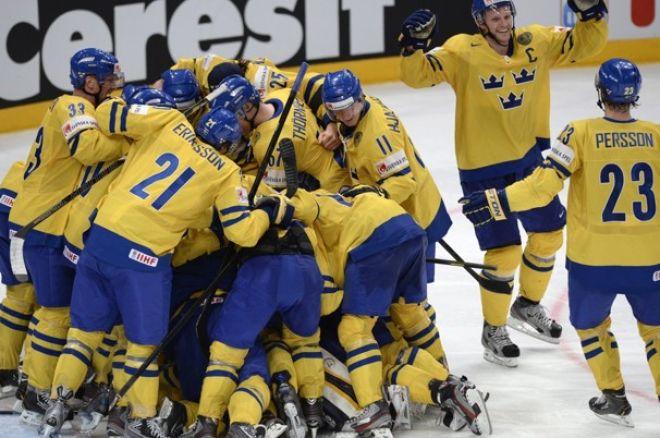 Tre kronot till semifinal hockey-vm 2013