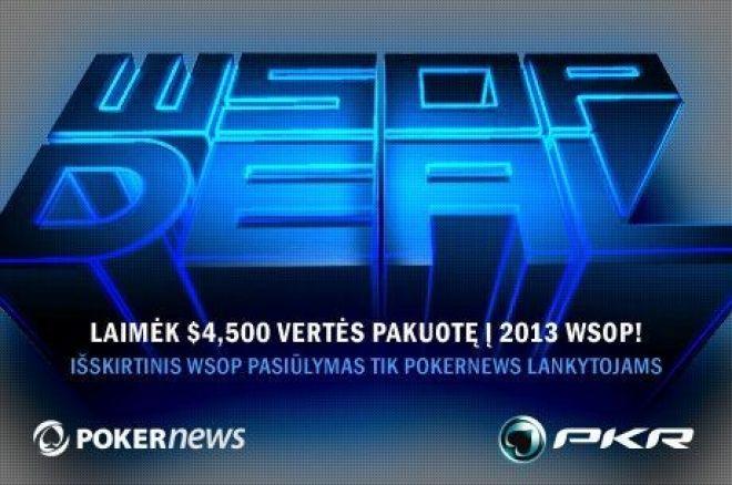 PKR visiems PokerNews lankytojams suteikia galimybę laimėti kelionę į WSOP 0001