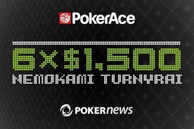Liko keturi nemokami turnyrai PokerAce pokerio kambaryje 0001