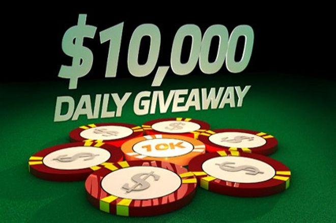 PartyPoker: $10 000 Daily Giveaway utvides til 9. juni 0001