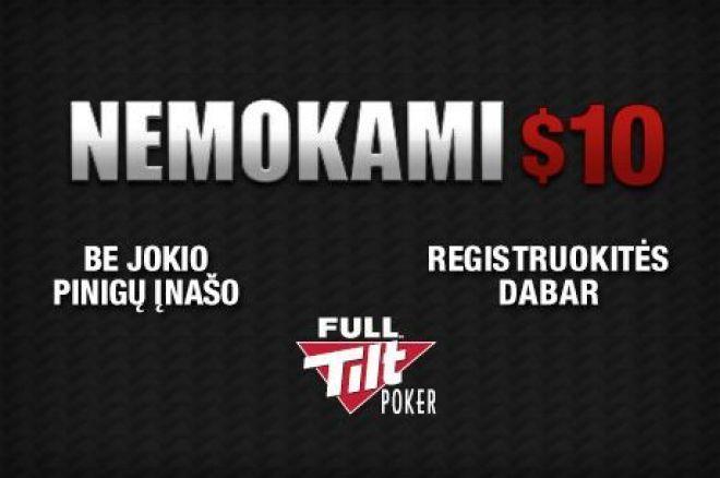 Gauk 10 dolerių nemokamai Full Tilt Poker 0001