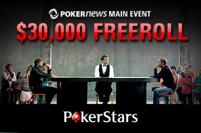 Kvalifiseringen til PokerNews $30 000 Main Event freeroll er i gang! 0001