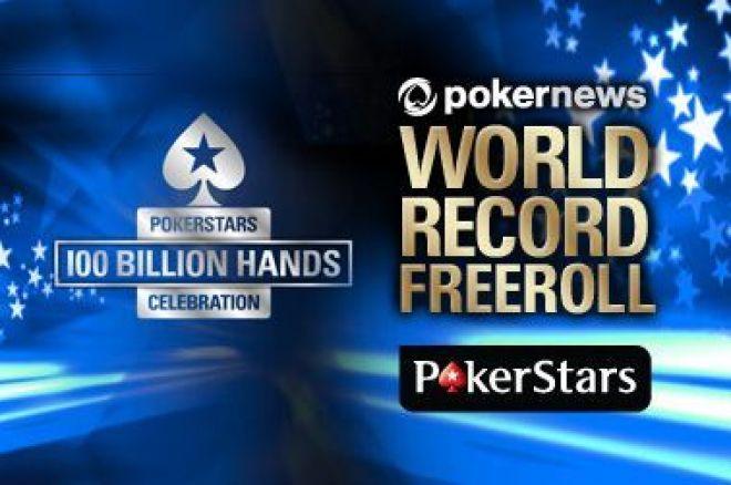 Laimėkite vieną iš 9,000 bilietų į PokerStars Pasaulio Rekordo turnyrą 0001
