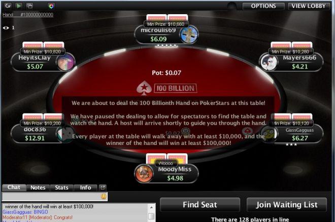 Vakar buvo padalinta 100-milijardinė ranka PokerStars kambaryje. Jos laimėtojui atiteko... 0001