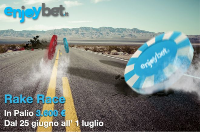 Poker online: torna la Rake Race su Enjoybet.it! 0001