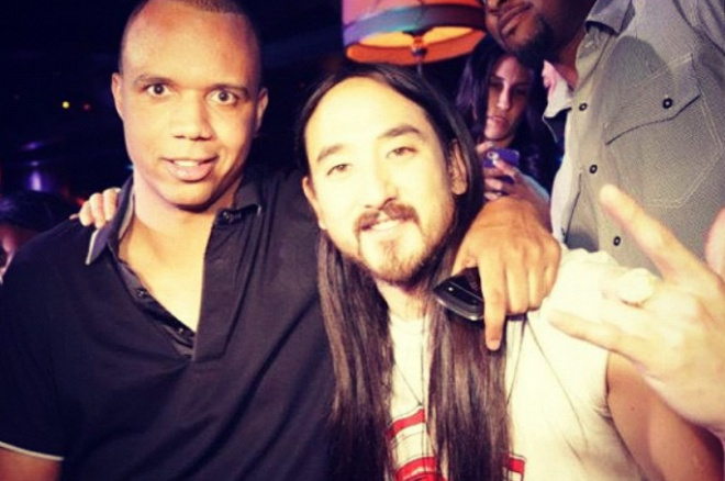 Phil Ivey and Steve Aoki