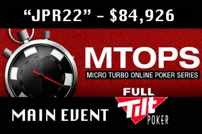 """Luso """"jpr22"""" Vence Main Event MTOPS ($84,926) e Mais 0001"""