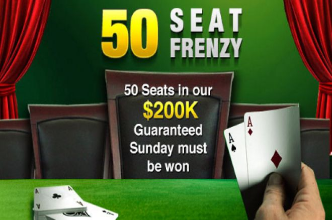 PartyPoker Weekly: Win 1 of 50 Seats to the $200k GTD Sunday 0001
