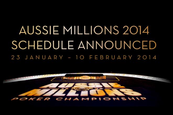 PokerNews Boulevard: Aussie Millions 2014 toernooischema bekend gemaakt