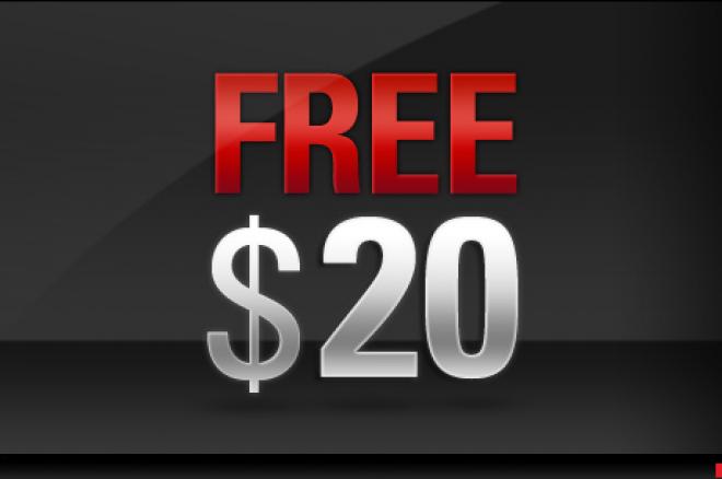 Darmowe $20 od PokerStars 0001