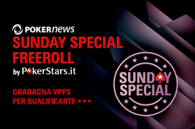 -4 al PokerNews Sunday Special Freeroll: siete pronti? 0001