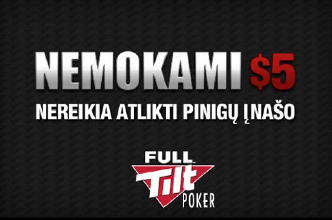 Pasinaudokite Full Tilt Poker pasiūlymu ir pasiimkite nemokamus $5 0001