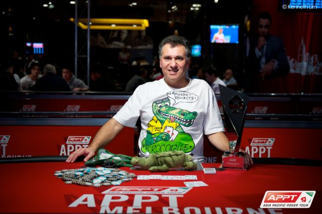 "Billy ""The Croc"" Argyros Wins 2013 APPT Melbourne Main Event; Ashley Mason 4th 0001"