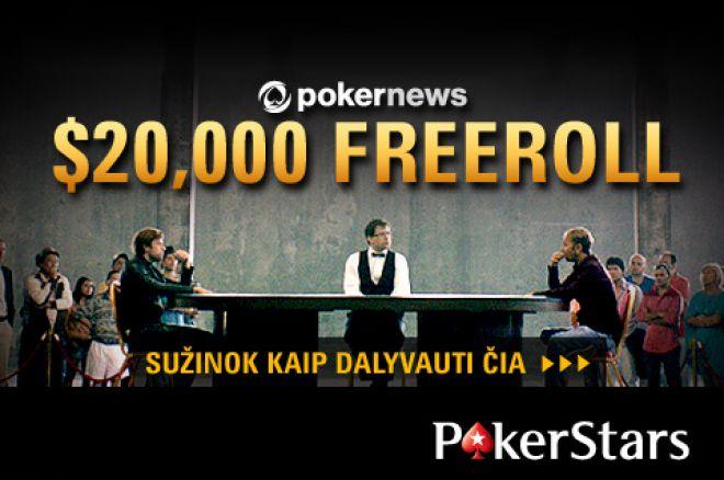 PokerNews lankytojų laukia dar trys $20,000 vertės nemokami turnyrai PokerStars kambaryje 0001