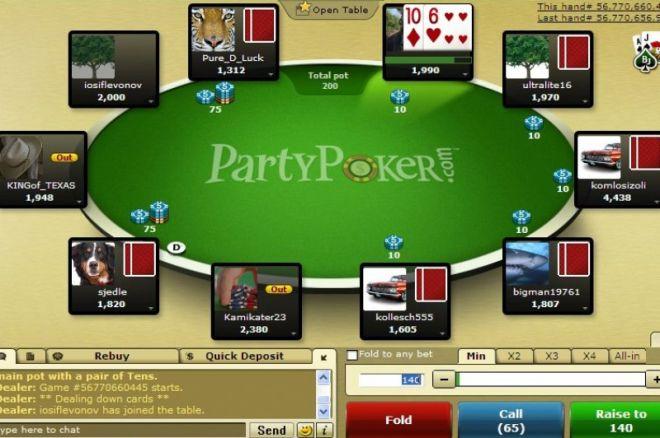 Игроки используют сегрегацию поля на PartyPoker в... 0001