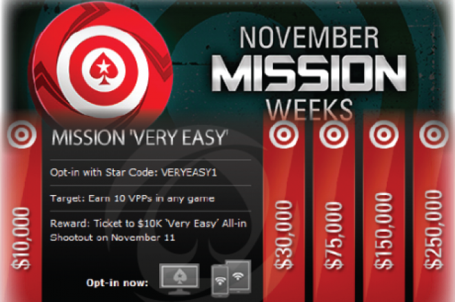 PokerStars November Mission Weeks