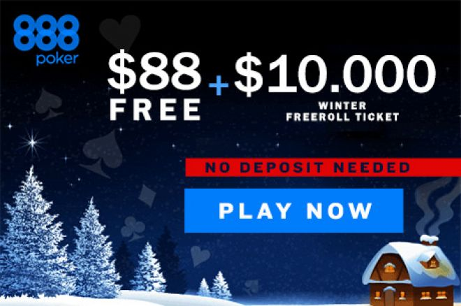 Compete in $10,000 Freerolls Every Day in December in the Gr888 Winter Giveaway 0001