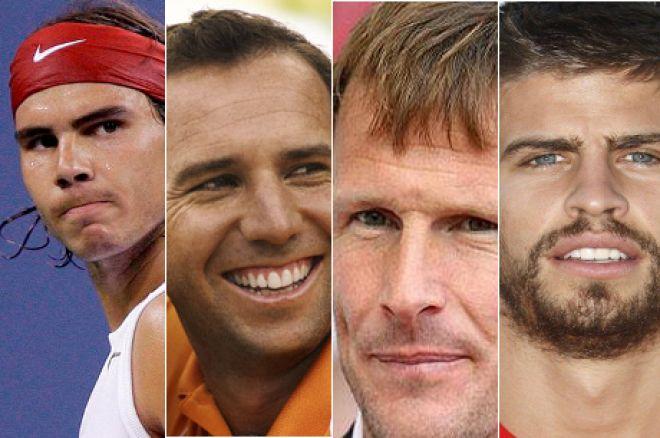 Rafa Nadal, Sergio Garcia, Teddy Sheringham and Gerard Pique