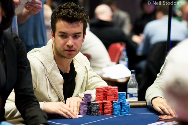 Chris Moorman is up among the chip leaders.