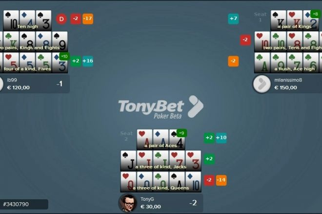 TonyBet Open Face Chinese Poker