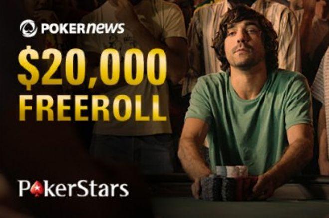 Šiandien - 20,000 dolerių prizinio fondo nemokamas PokerNews turnyras 0001