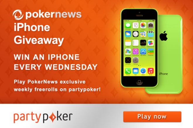Win a New iPhone 5S Every Wednesday on partypoker! 0001