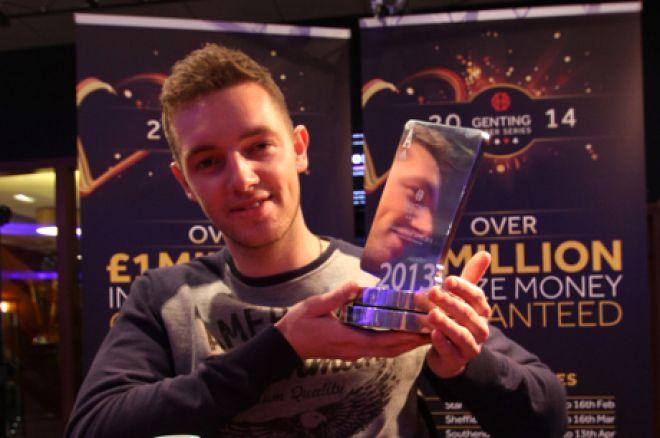 Michael Richardson, winner of the 2013 Genting Poker Series Nottingham Main Event