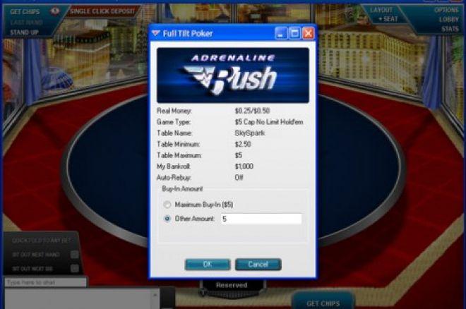 """Naujausias Full Tilt Poker pasiūlymas - """"Adrenaline Rush Knockout"""" 0001"""