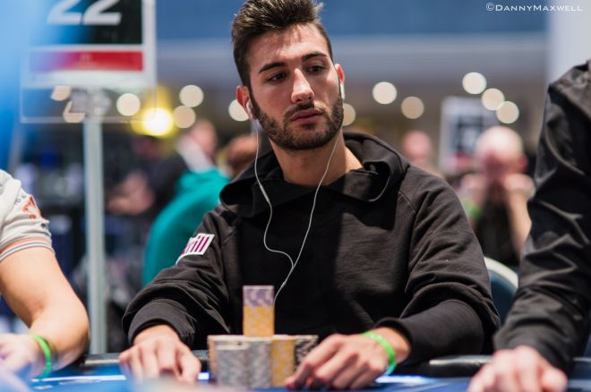 Dario Sammartino at the Summit After Day 2 of PokerStars.fr EPT Main Event