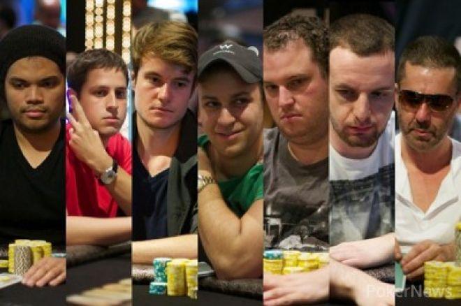 Ami Barer, Sorel Mizzi e Scott Seiver na Final Table do ME Aussie Millions 0001