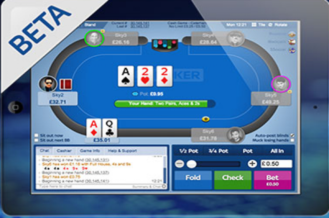Sky Poker Mobile beta