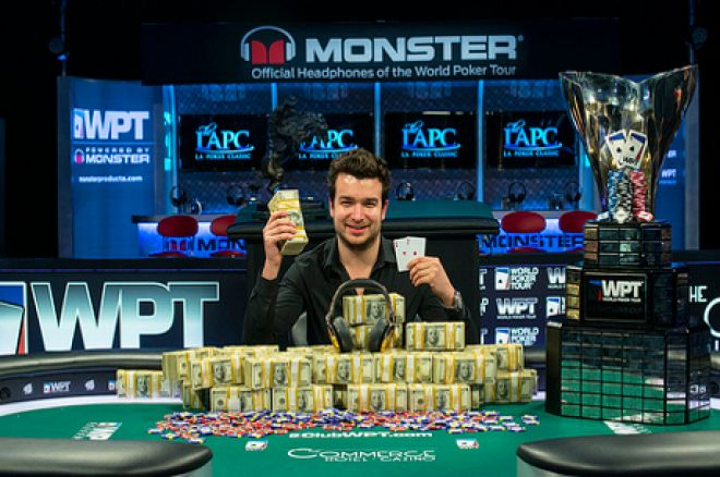 Chris Moorman after winning the WPT L.A. Poker Classic Main Event