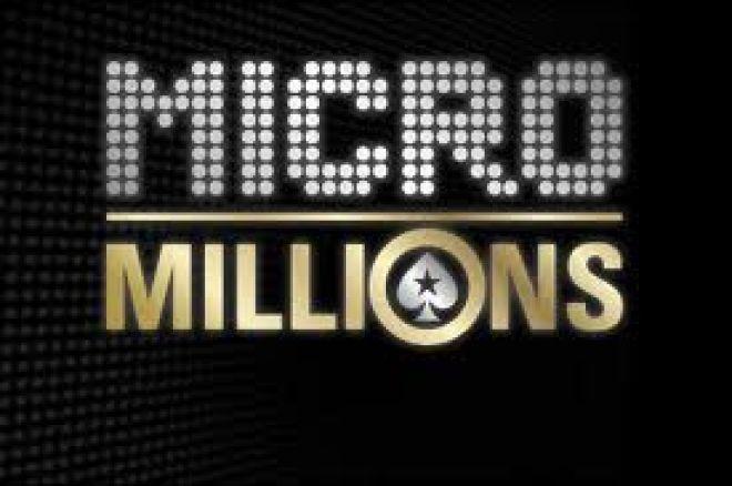 Šiandien prasideda žemų įpirkų MicroMillions turnyrų serija 0001