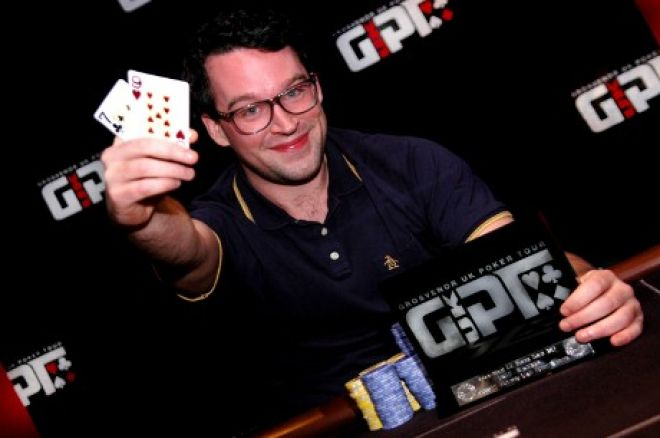 Rick Trigg shortly after winning GUKPT Blackpool