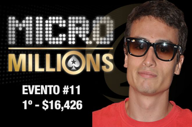 Cristiano Oliveira (1º) e Luis Caliço (2º) no Evento #11 do MicroMillions 0001