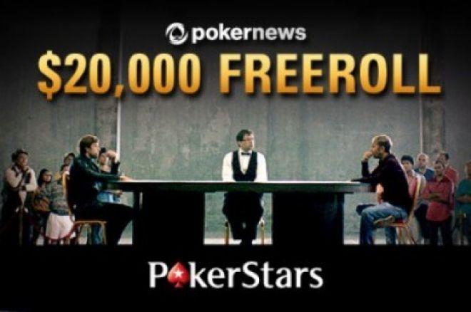 Artėja dar vienas 20,000 dolerių prizinio fondo PokerNews nemokamas turnyras PokerStars... 0001